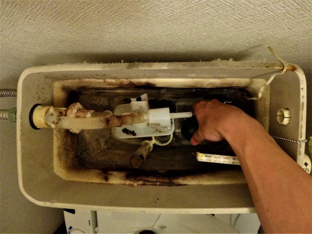 トイレの排水が止まらない(塗装工房)