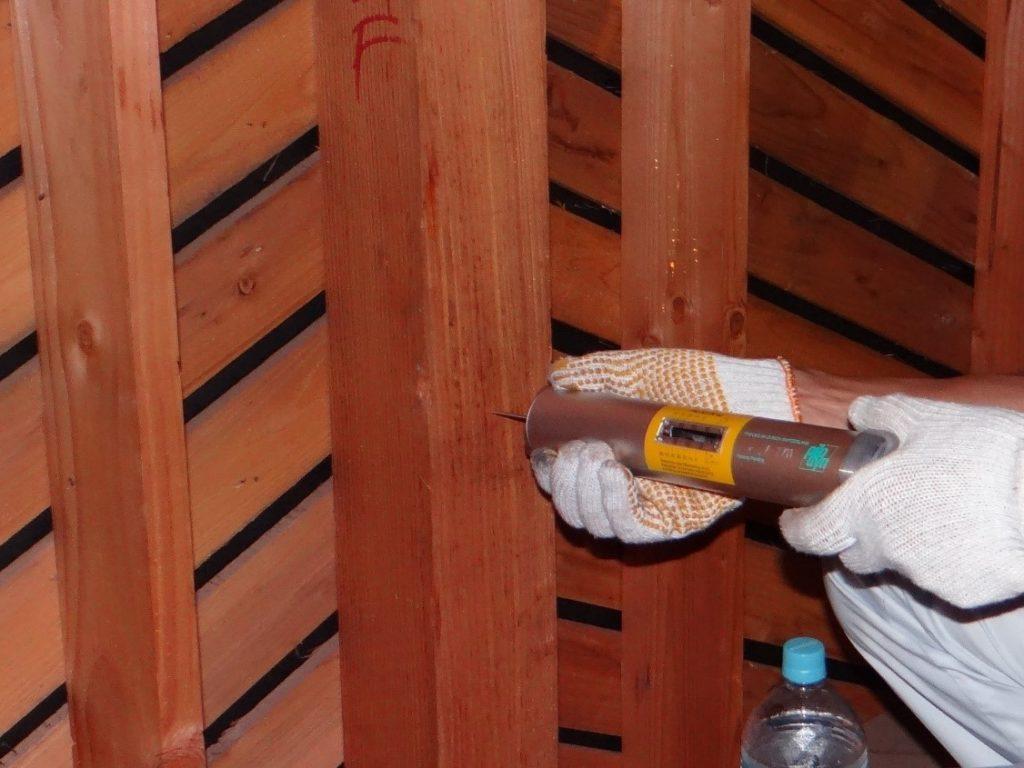 木部の強度測定(塗装工房)