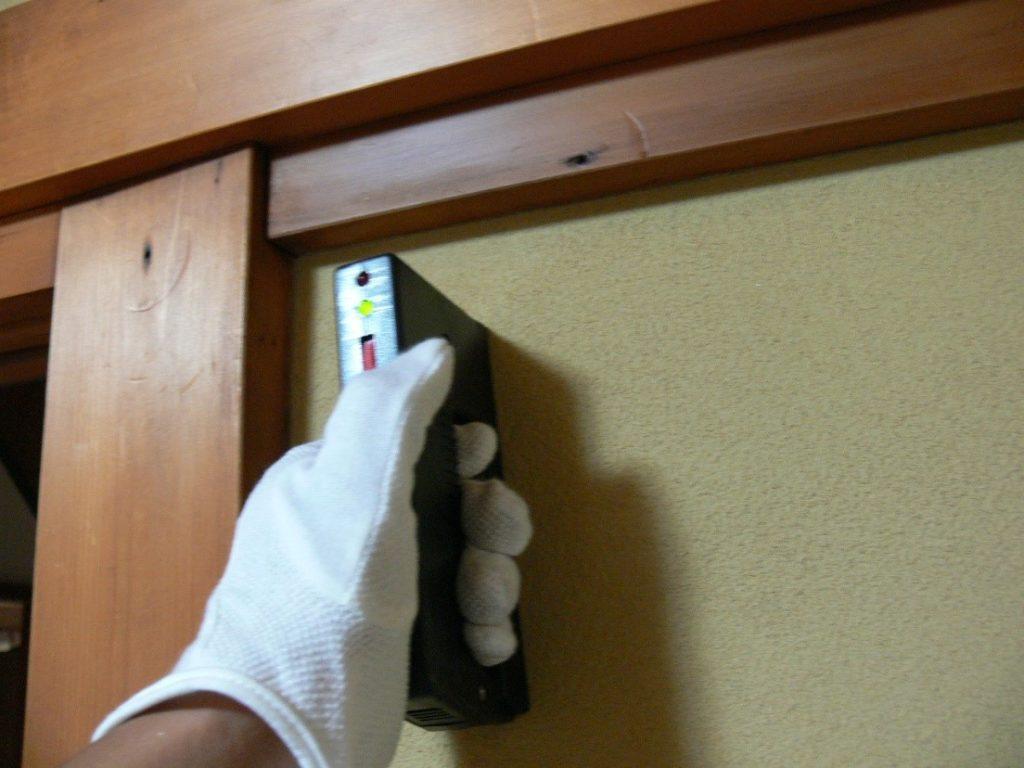 金物の設置状況の検査(塗装工房)