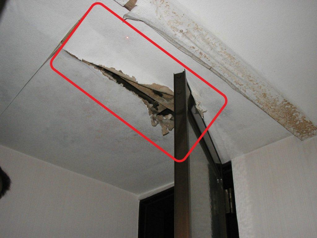 天井の破損(塗装工房)