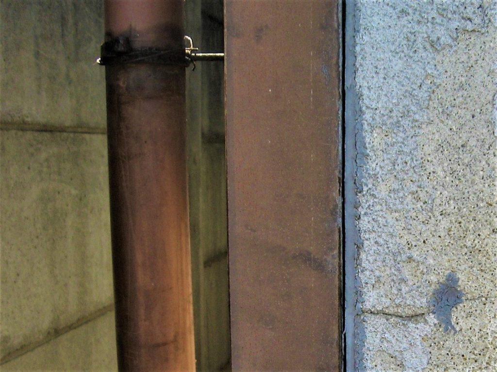 竪樋の詰まり(塗装工房)