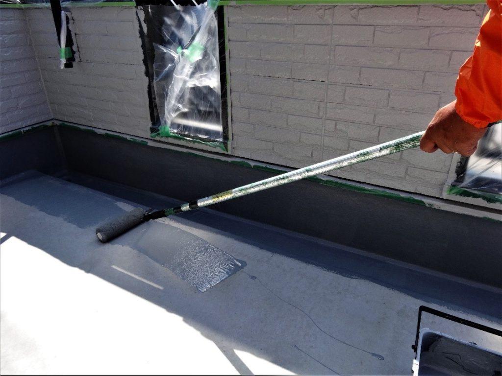 ベランダ床の塗装工事写真(塗装工房)