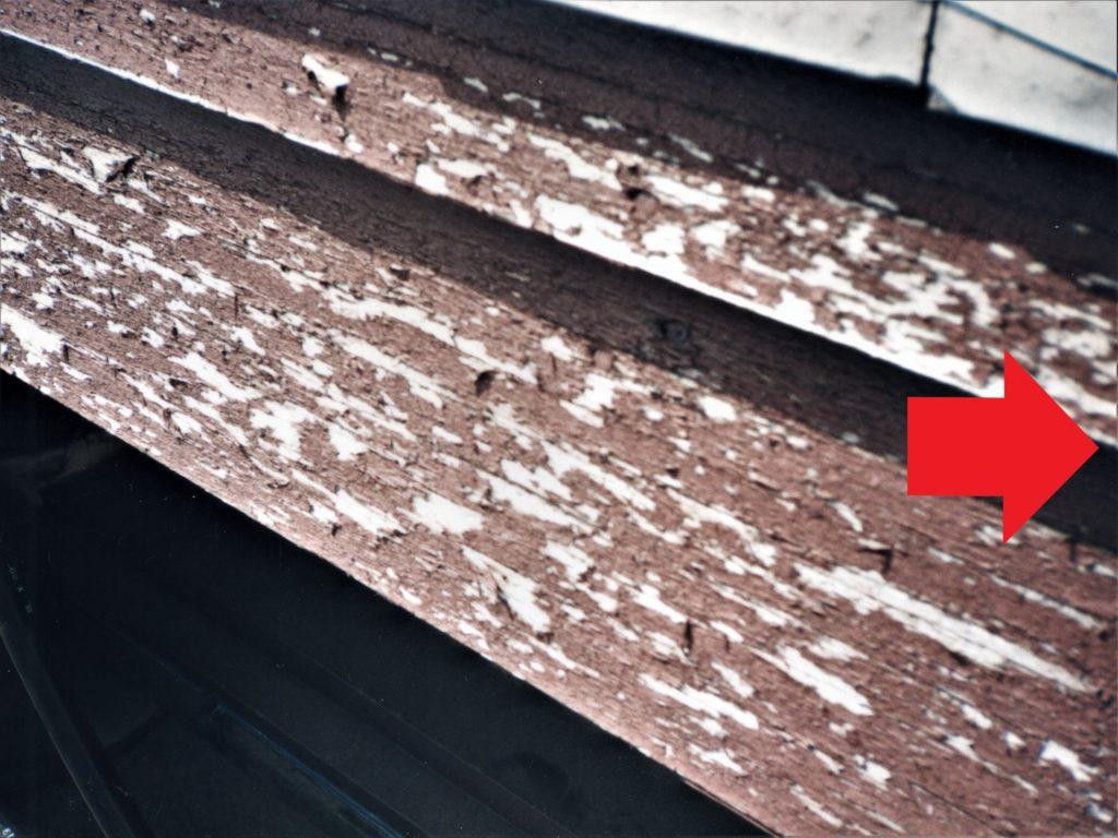 破風板の塗料の剥離(塗装工房)