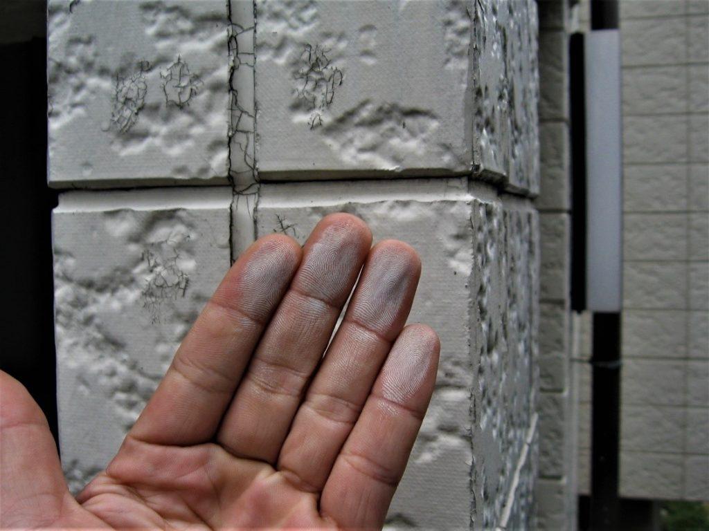 チョーキング現象(塗装工房)