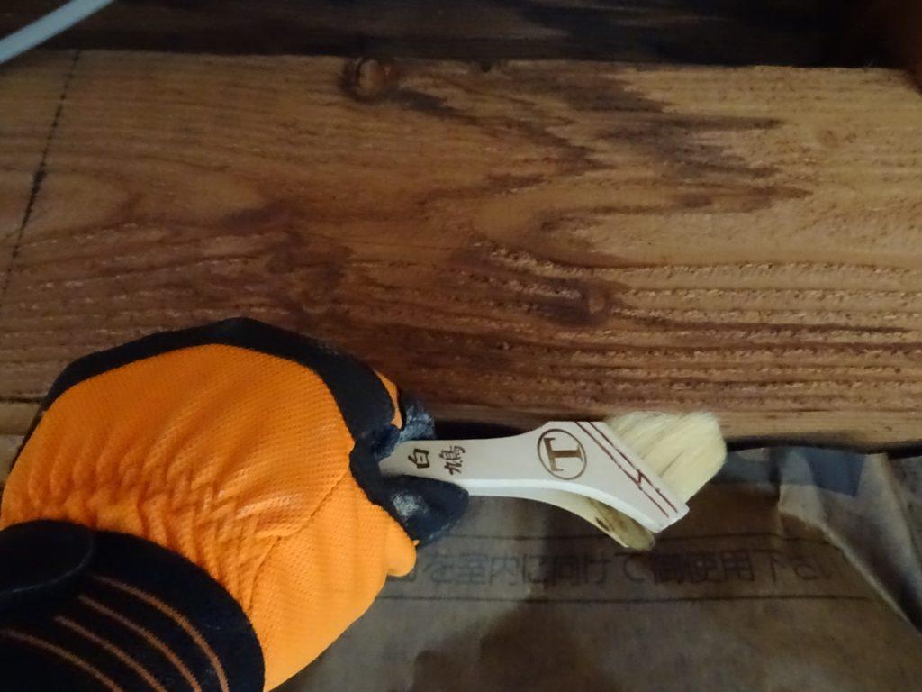 木部の防腐塗装工事の写真(塗装工房)