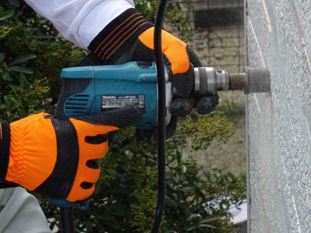 オーバーフロー管設置工事の写真(塗装工房)